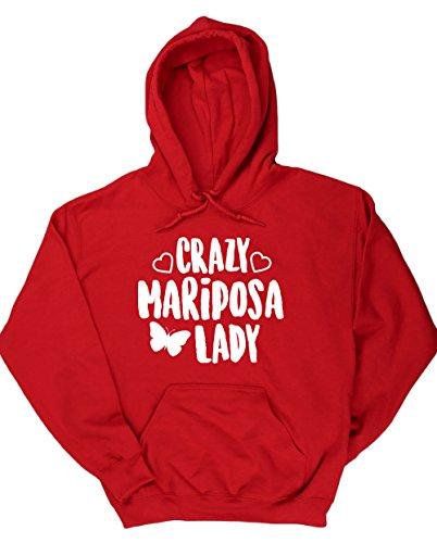 hippowarehouse-crazy-mariposa-lady-jersey-sudadera-con-capucha-sueter-derportiva-unisex