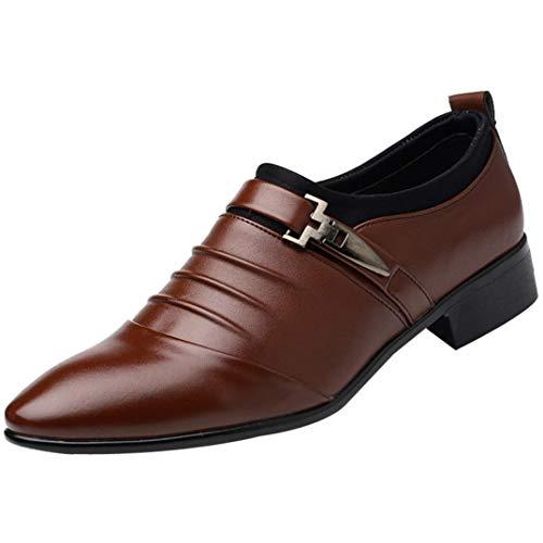 (Quaan Herbst Winter Herren Modern Klassisch Britisch Leder Schuhe Mode Mann Spitz Zehe Formal Hochzeit Persönlichkeit Weich gemütlich stärken Freizeit Bankett Büro Atmungsaktiv Solide)