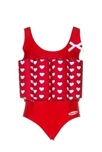 Beverly Kids Mädchen True Love Uv-bojenbadeanzug, Rot 116