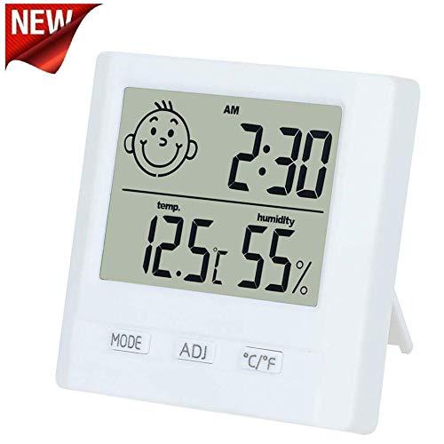 TPFOON Digital Thermometer Hygrometer Monitor with Table Standing Grät Luftfeuchtigkeit Werte Anzeige Zeigt Geräte Magnet Batterie Angezeigt Vergleich Max Min