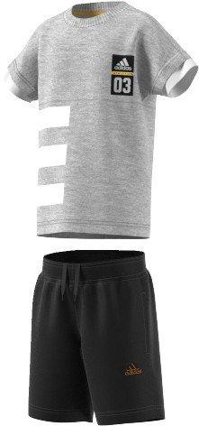 adidas Kinder LB ID Sum Set Trainingsanzug, Grau (Brgrin/Blanco/Dorsol), 122