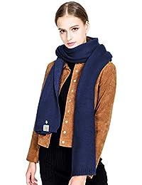 Alleza Sciarpa da Donna Inverno in Cachemire Doppio Colore Stola Scialle  Quadrato Caldo 25f55f0be324