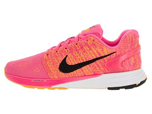 Nike Damen Lunarglide 7 Laufschuhe Rosa (Pink Blast / Black-Lsr Orng-Wht ...