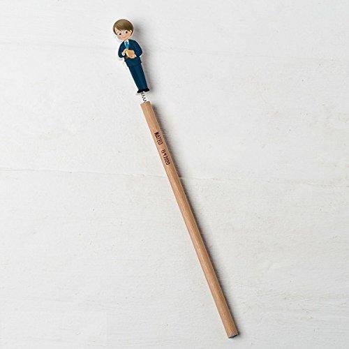 mopec Pack Bleistifte Kinder Kommunion Anzug und Bibel, Holz, Braun, 0.7x 1.9x 24cm, 6Stück (Die Erstkommunion Anzüge Für)