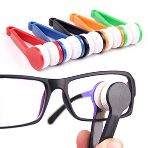 e Zufällig Mehrzweck Mikrofaser Tragbare Brillenreiniger Brillengläser Reinigungsbürsten Scheibenwischer für Brillenglasreinigung ()