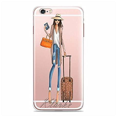 iPhone 6s plus Case, iPhone 6 plus Case, Ranrou case,Ranrou Soft TPU Silicone Clear Cases for iPhone 6 plus 6s plus -fashion girls