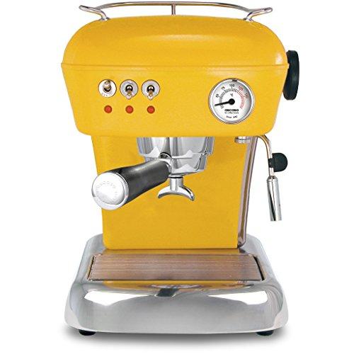 ascaso Dream–Portafiltros eléctrica, cafetera expreso para Barista Calidad Casa, con GRATIS Kult Aroma Espresso amarillo