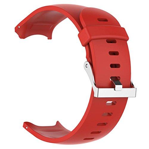 squarex Ersatz Silicagel Soft Band Strap Für Garmin Approach S3-GPS-Uhr, Damen, rot, AS Show (Damen Band Garmin-uhr)