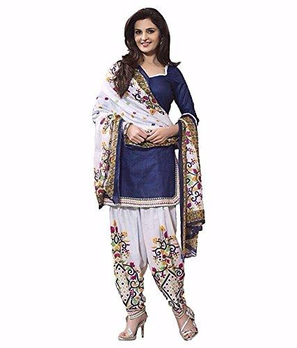 arthenterprise New salwar kameez indian embroidery punjabi patiala suit unstitch