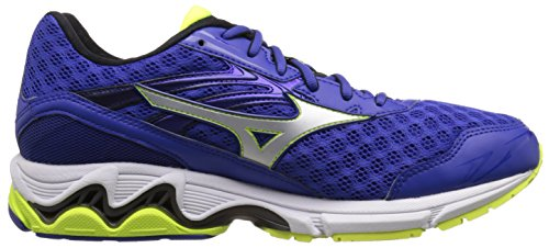 Mizuno Wave Inspire 12 Large Synthétique Chaussure de Course Blue-White-Lime