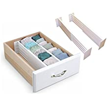 Divisores de cajones de LIVIVO®, expansibles, para cocinas o dormitorios (2 piezas)
