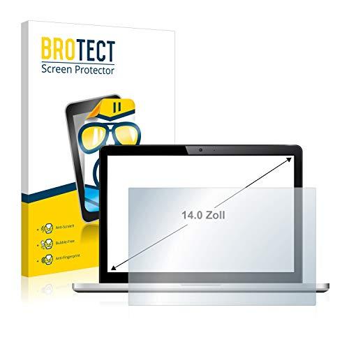 BROTECT Schutzfolie kompatibel mit Notebooks und Laptops mit 35.6 cm (14 Zoll) (310 mm x 175 mm, 16:9) - klare Displayschutz-Folie