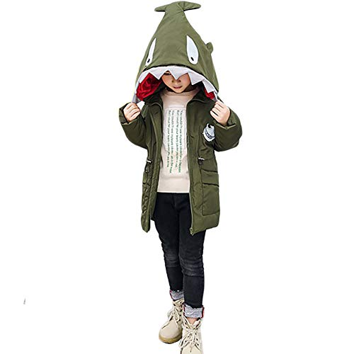 Bmeigo Niños Abrigo con Capucha Chaqueta Invierno Sobretodo A Prueba de Viento Caliente Acolchado Tiburón...