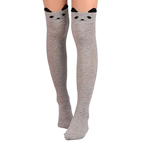 Sannysis Calcetines largos para mujer calcetines running gato
