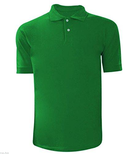 Men Plain Polo T-shirt Green S