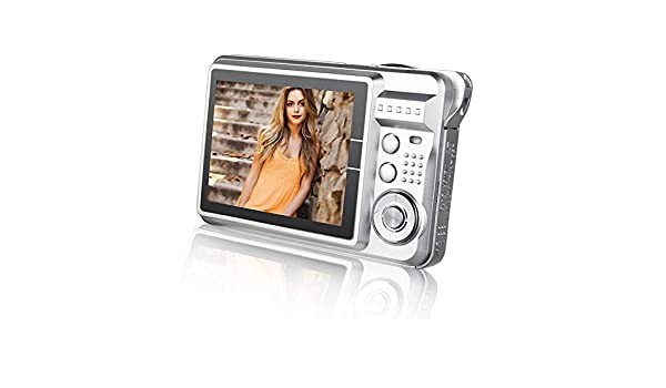 21M Pixels Children Digital Camera 2.7 inch Color Display Card Style Digital Photo Video Record Camera HD 8X Zooming Smart Automatic Camera Durable Color : Silver