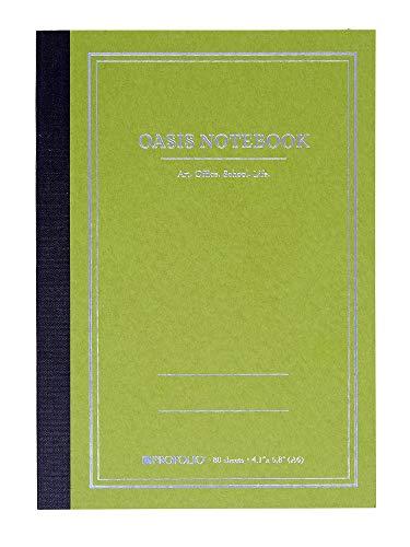 Itoya Profolio, Oasis Notebook, Avocado Green, Small A6, 4.1 x 5.8 inches, OA-SM-AV (4 X 6 Pocket Chart)