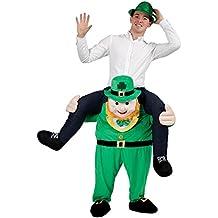 """Disfraz de """"llévame en brazos, duende"""", con diseño de duende irlandés del equipo de Rugby St. Patricks"""