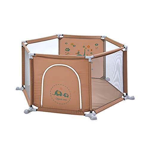 Parc de sécurité portatif pour Les Tout-Petits, Anti-Renversement pour Enfants Hexagone, barrière de Jeu pour Les Enfants de 0 à 3 Ans
