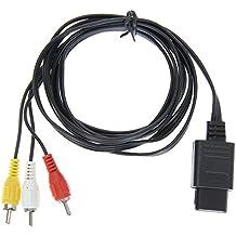 Demiawaking 1.8m Cable de Vídeo Juego 6FT AV TV RCA Video Cable para Snes Nintendo 64 N64 (1 Pcs)