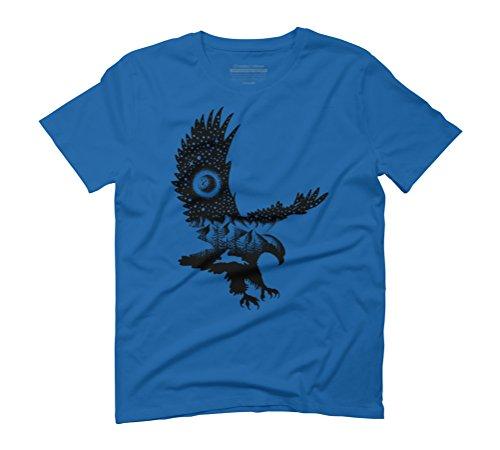 BALD EAGLE Men's Graphic T-Shirt - Design By Humans Royal Blue