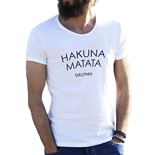 Hakuna Matata Bitches Herren T-Shirt weiße