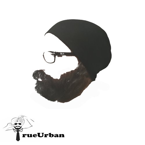 TrueUrban Tube Turban (Black ,Pack of 1)