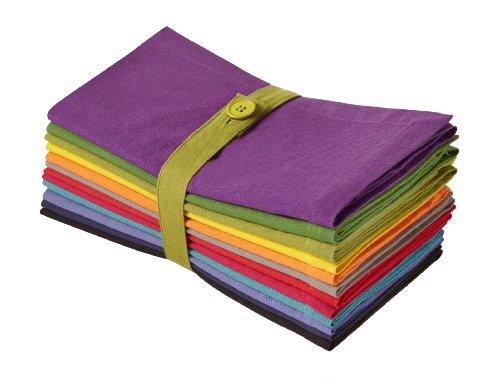 Cotton Craft Servietten, 100% Baumwolle, Übergröße, 51 x 51 cm, Magenta, Limette, Ming Red, Stone, Schwarz, Lavendel,...