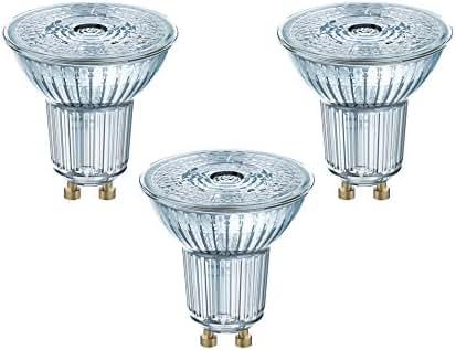 Osram 4058075818392 Ampoule LED Verre 4,30 W GU10 Argent Set de 3