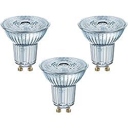 Osram - Spots LED - Culot GU10 - 3,6W Equivalent 50W - Blanc froid 4000K - Lot de 3 [Classe énergétique A+]