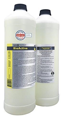 BioActive Universal | Biologischer Geruchsneutralisierer mit Wirkbeschleuniger | Natürlich, hygienisch und dauerhaft | Konzentrat | Gegen Uringeruch und Nikotingeruch | Refill Set für 4 L