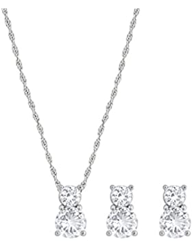 Swarovski Brilliance Set, weiss, rhodiniert