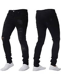 Herren Hose Xinan Herren Stretch Jeanshose Skinny Stretch Denim Hosen  Distressed Ripped Ausgefranste Slim Fit Jeans d4897bb864