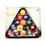 "BCE 41mm (1 5/8"") Home SMALL SIZE Numbered Spots & Stripes Pool Balls & Triangle"