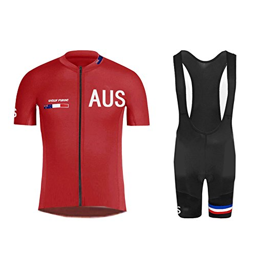 Uglyfrog #04 Bike Wear Country - Code Sommer Herren Radsport Anzüge Kurzarm Cycling Jersey + Trägerhosen Sport Bekleidung Kit
