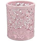 Hosaire 1X Céatif Pot à Crayons en Métal à motif Rose Blanc/Rose/Vert
