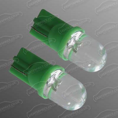 Lot de 2 ampoules LED T10 501 W5W sans culot 12 V HID