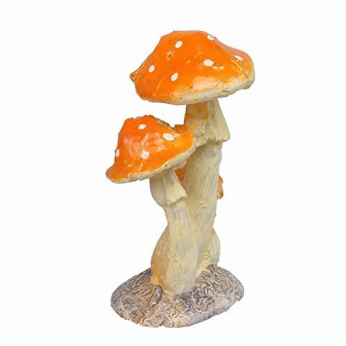 Carry stone 3 Stücke Pilz Fliegenpilz Miniatur Garten Figur Dekor Nützlich und Praktisch