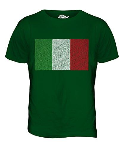 CandyMix Italia Bandiera Scarabocchio T-Shirt da Uomo Maglietta Verde bottiglia