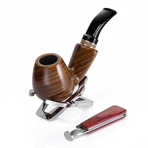 Stehen Mann Ein Baum (A.P. Donovan - Holz-Tabak-Pfeifen-Set handgemacht (mit Edelstahl Pfeifen-Ständer & Tabak-Stopfer / Besteck) - Geschenke für Männer - Geschenkset)