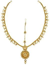Zaveri Pearls Antique Gold-Toned Traditional Maangtikka-ZPFK6635
