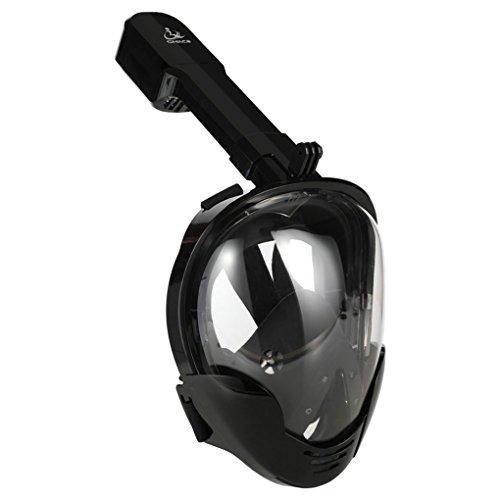 Bodbii SMACO 180 Vue panoramique Facial plongée en apnée Masque de plongée sous-Marine Vitesse Natation Snorkel Titulaire de la caméra sous-Marine pour Gopro