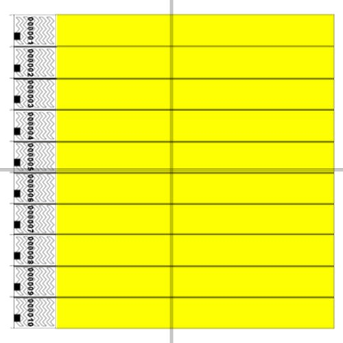 clubking-juego-de-pulseras-fibras-de-polietileno-tyvek-1000-unidades-color-amarillo