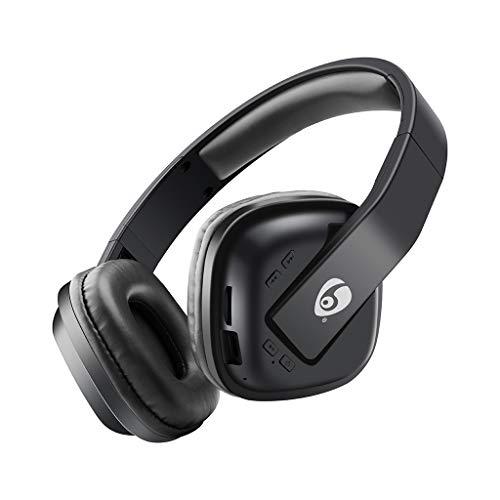 Kopfhörer mit Geräuschunterdrückung Bluetooth 5.0 Drahtlose Kopfhörer Subwoofer Wireless Bluetooth Headset Musik TF-Karte Noise Cancelling Stereo(Schwarz)