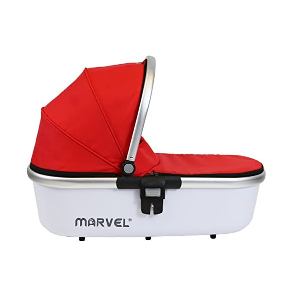 iSafe Marvel 3in1 Travel System Includes Car Sea & Carrycot (Red Pearl) iSafe  7