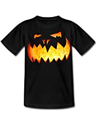 Spreadshirt Halloween Pumpkin Face Teenage T-shirt