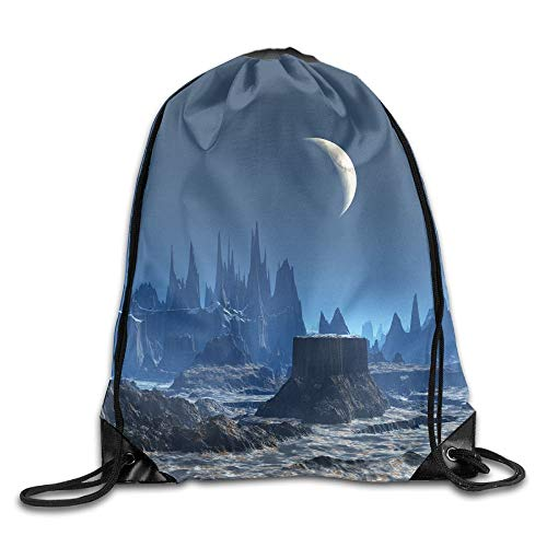 HLKPE Alien Planet and Earth Moon Drawstring Bag for Traveling Or Shopping Casual Daypacks School Bags