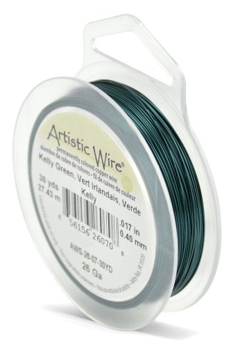 Artistic Wire Beadalon Fil de cuivre Calibre 26 27,43 m Fil Vert Kelly