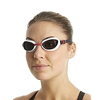 Speedo Unisex Adult Aquapure Goggles - Red/Smoke, One Size