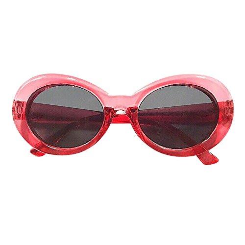 Battnot☀  Sonnenbrille für Damen Herren, Unisex Vintage Clout Mode Rapper Oval Shades Grunge Rahmen Anti-UV Gläser Sonnenbrillen Schutzbrillen Männer Frauen Retro Billig Sunglasses Women Eyewear